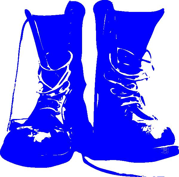 600x595 Blue Combat Boots Clip Art