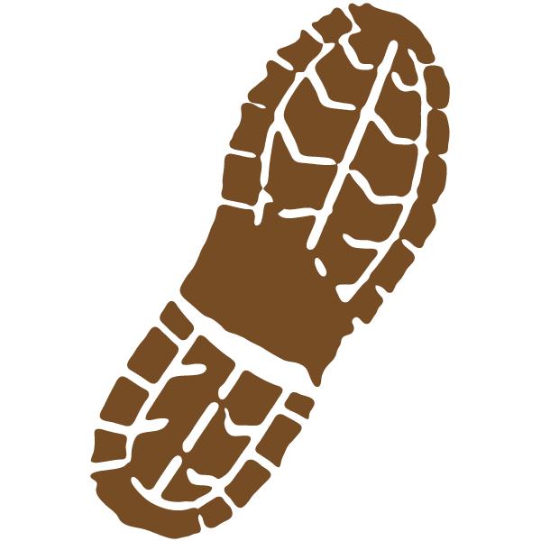 600x600 Boot Print Clip Art
