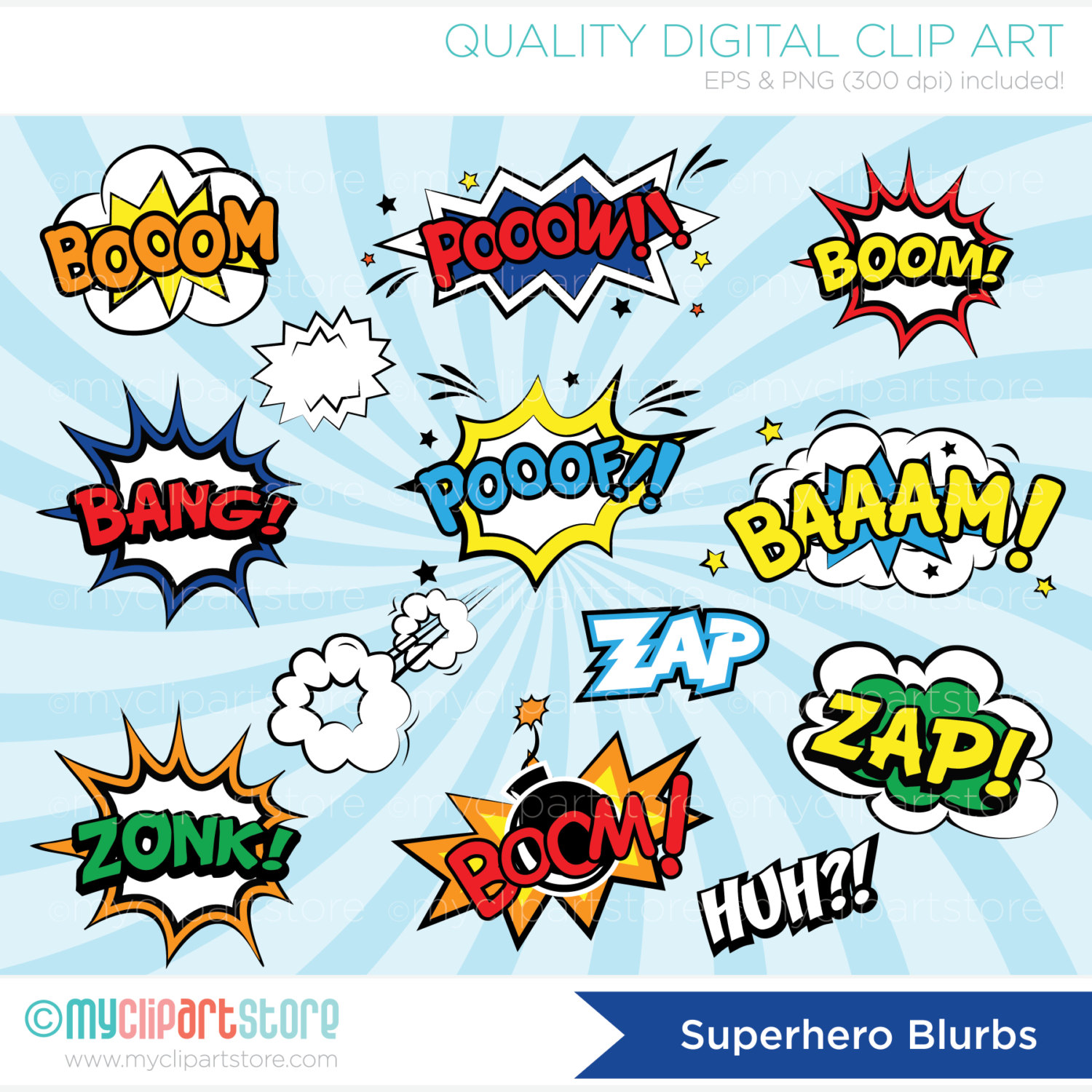 1500x1500 Clipart Superhero Comic Book Comic Text Speech Bubbles