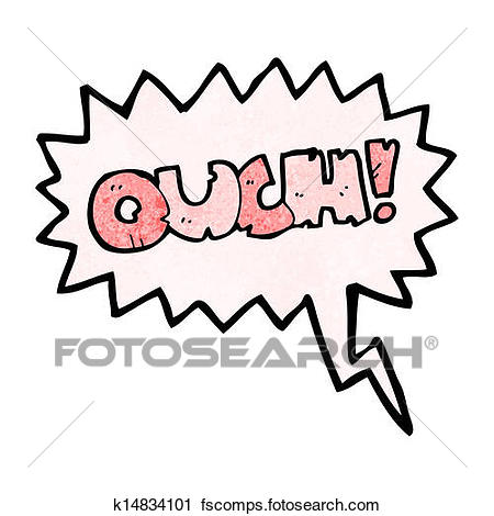 450x470 Clipart Of Comic Book Ouch Shout K14834101