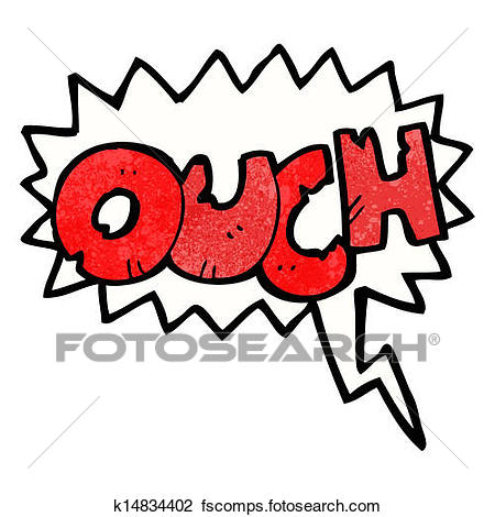 450x470 Clipart Of Ouch Comic Book Symbol K14834402