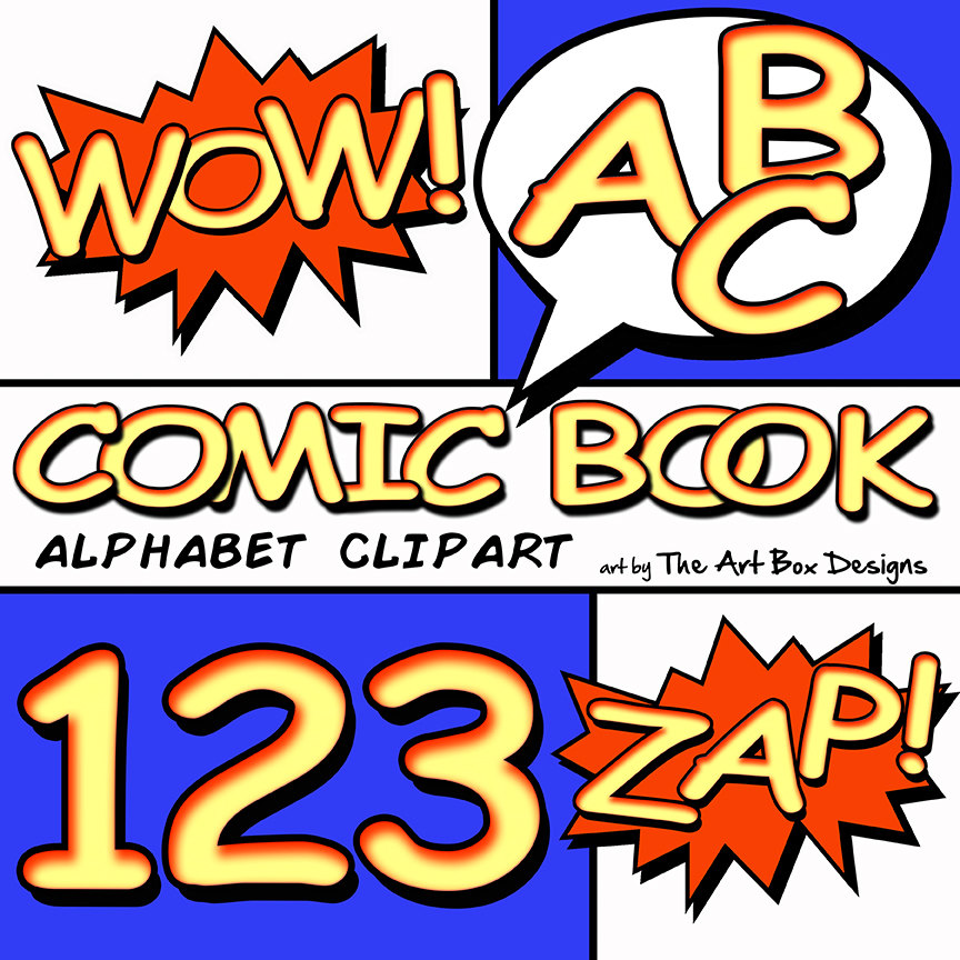 864x864 Comic Book Alphabet Clipart Superhero Alphabet Clipart Comic