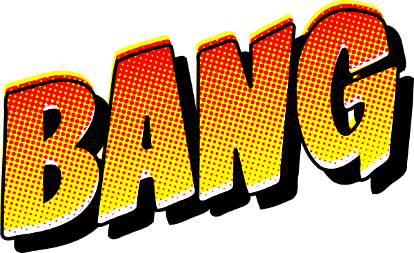 600x366 Comic Book Bang Clip Art