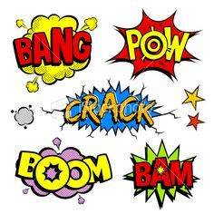 236x236 Comic Book Sound Effects Royalty Free Stock Vector Art