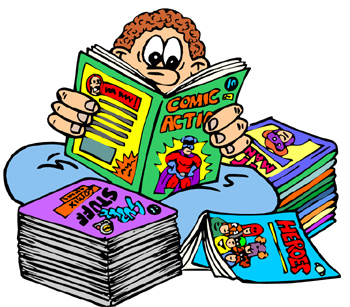 350x307 Image Of Comic Book Clipart