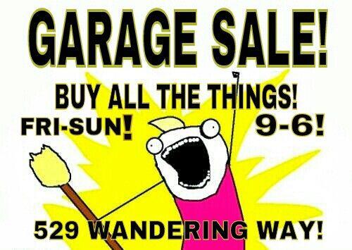 500x355 16 Best Garage Yard Sale Idea's Images Organize