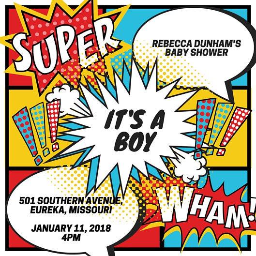 529x529 Superhero Invitation Templates