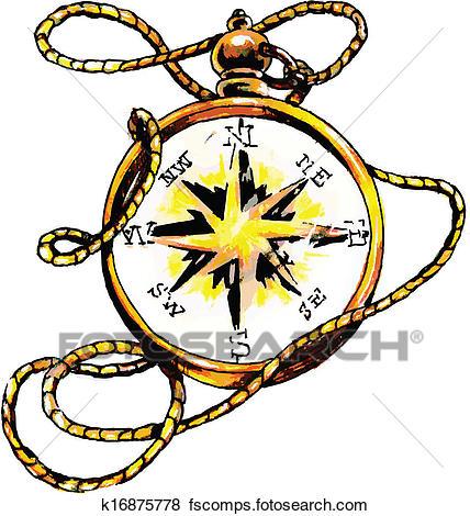 428x470 Clip Art Of Classic Compass K16875778