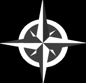 299x288 White Compass Rose Clip Art