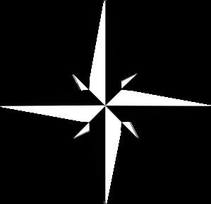 299x288 Black And White Compass Rose No White Clip Art