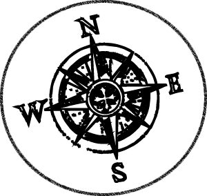 300x284 Pirate Clip Art Compass Rose Graphic (Free Printables)