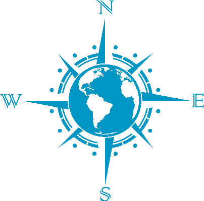 404x399 Globe And Compass Clipart