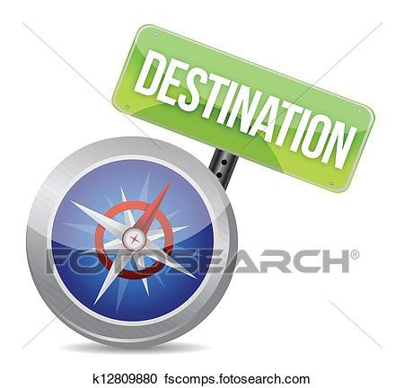 450x432 Clipart Of Compass Destination K12809880