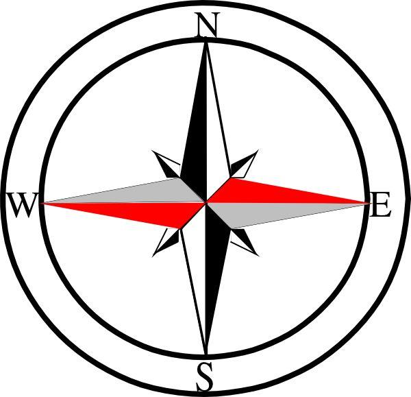 Compass Line Art
