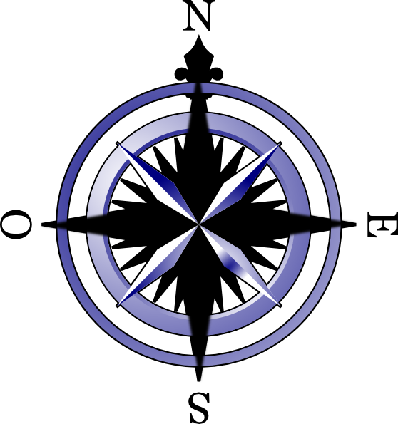 558x595 Compass Rose Drawings Clipart