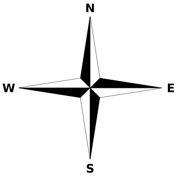 600x600 Simple Compass Rose