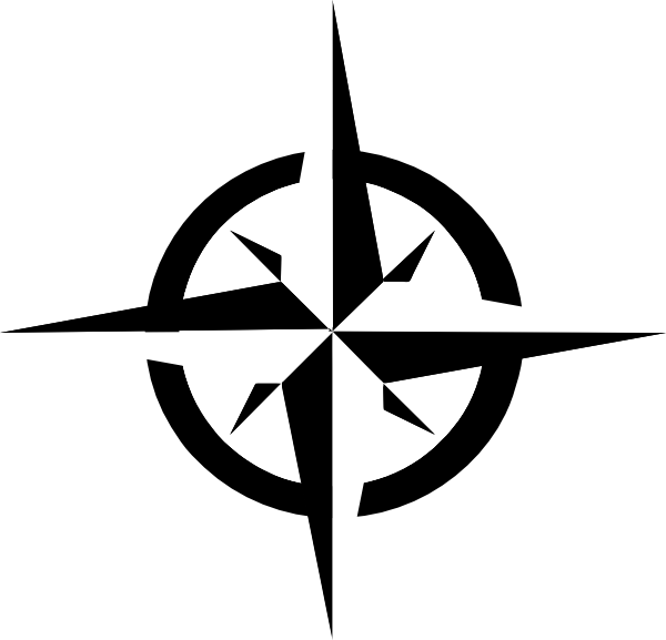 600x577 White Compass Rose Clip Art