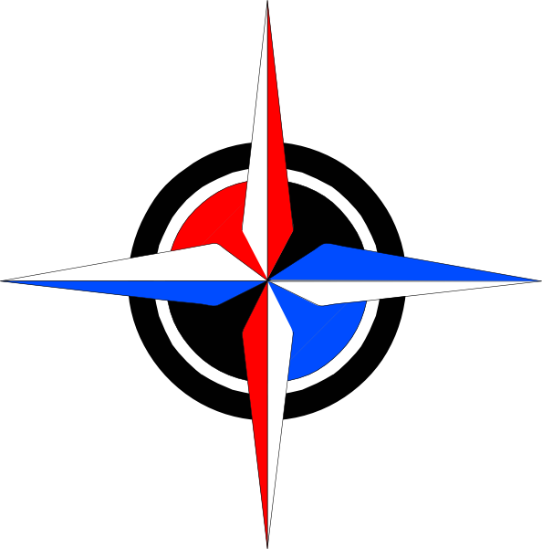 594x601 Blue Amp Red Compass Rose Clip Art