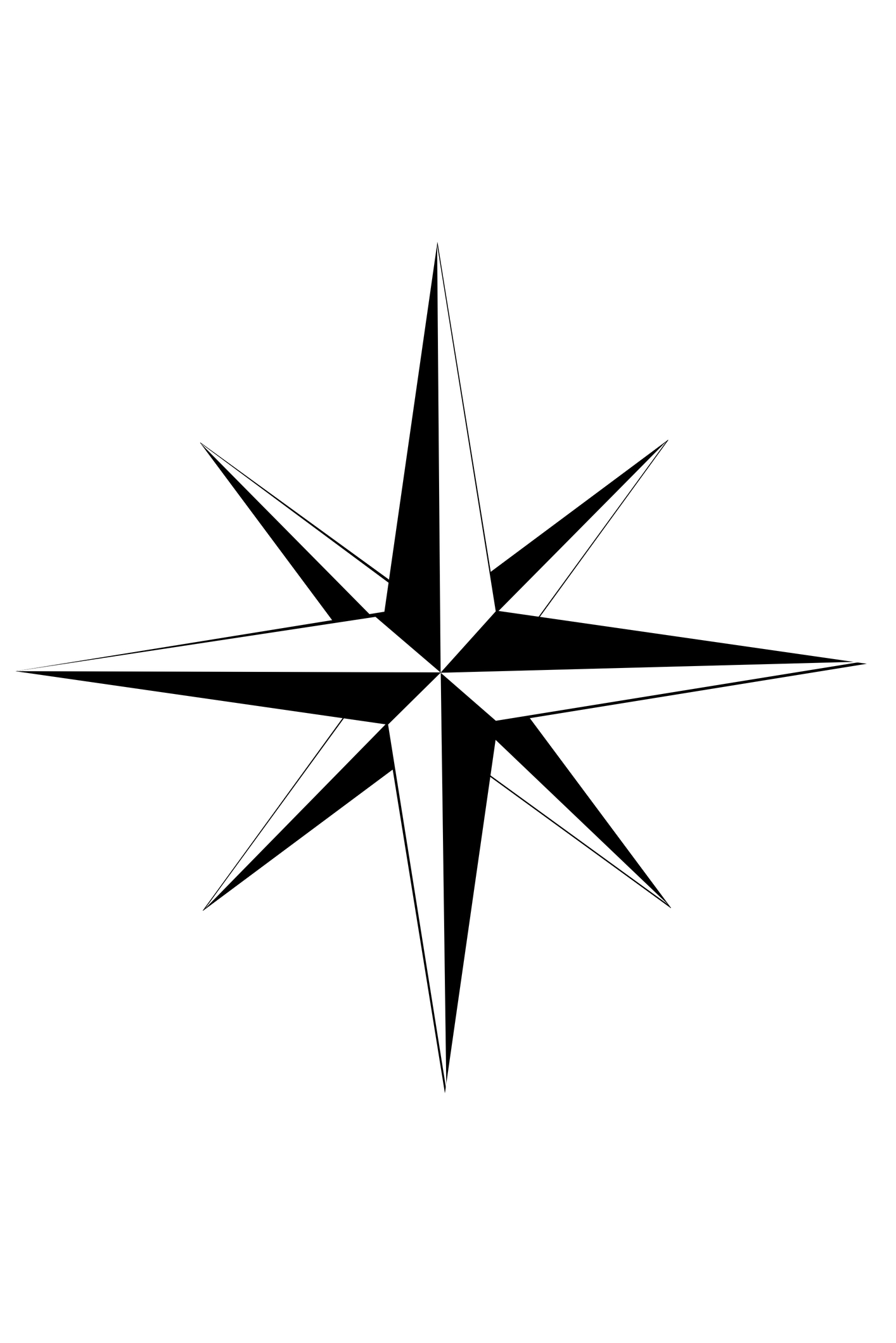 1414x2119 Compass Rose