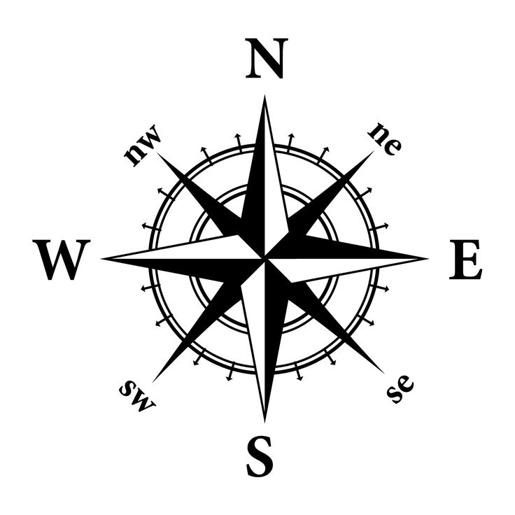 736x736 Drawn Compass Nautical Star