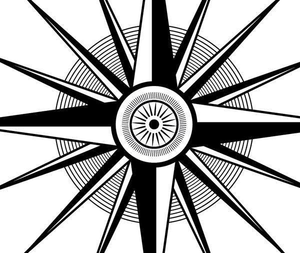 600x506 How To Create An Ornate Compass Rose In Illustrator