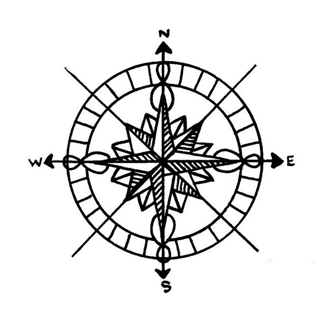 640x640 Pin Compass Rose Tumblr