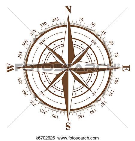 450x468 Clipart + Compass Rose