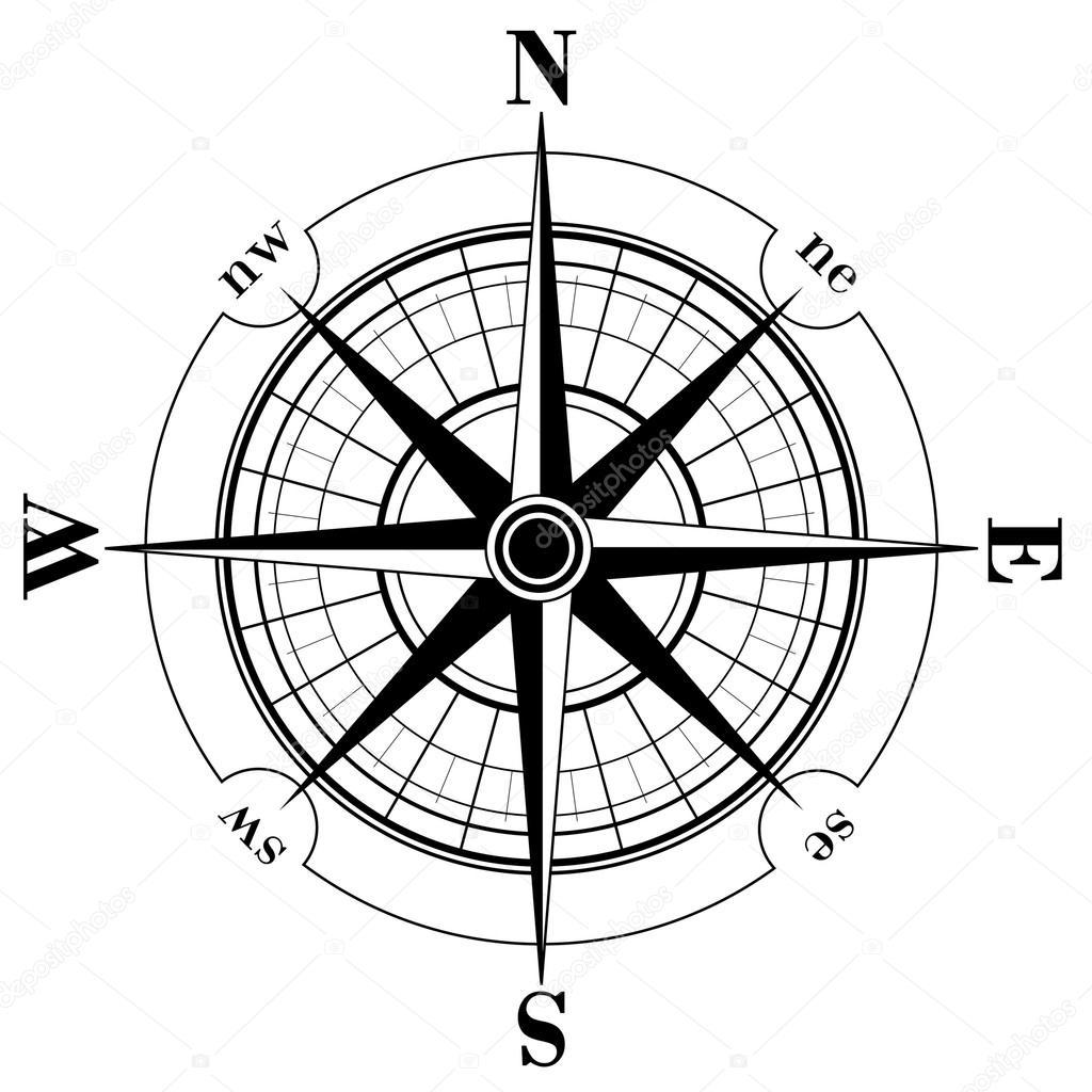 1024x1024 Compass Rose Stock Vector Makhnach