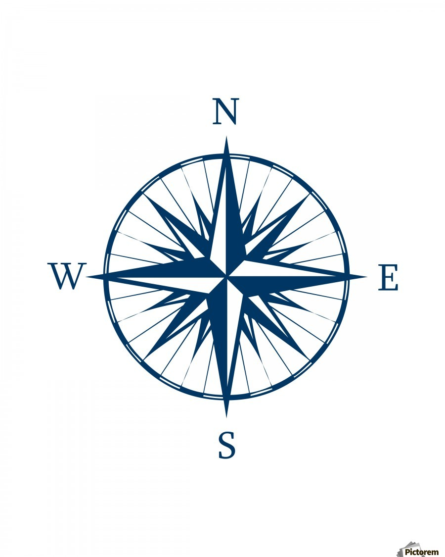 900x1125 Compass Rose