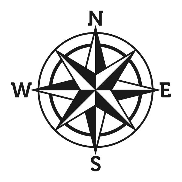 600x600 Compass Rose