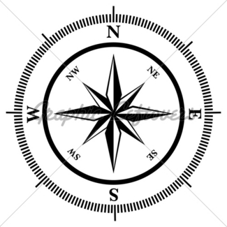 325x325 Compass Rose In Perspective On White Background Gl Stock Images