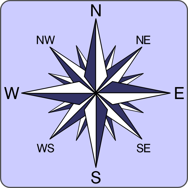 600x600 Compass Rose Png, Svg Clip Art For Web