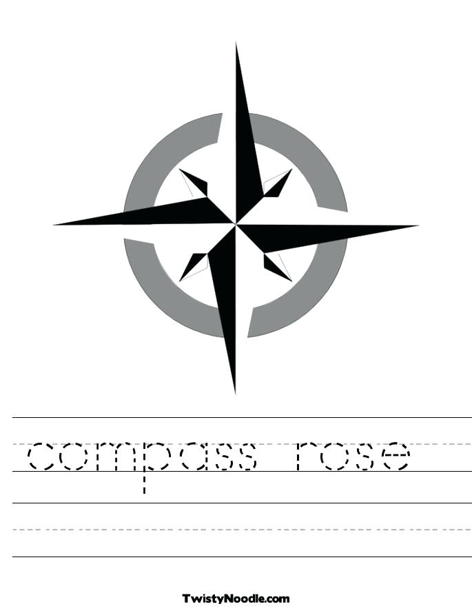 685x886 Compass Rose Coloring Sheet