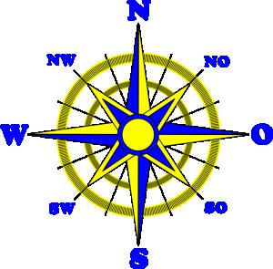 300x295 Compass Rose Clip Art Download