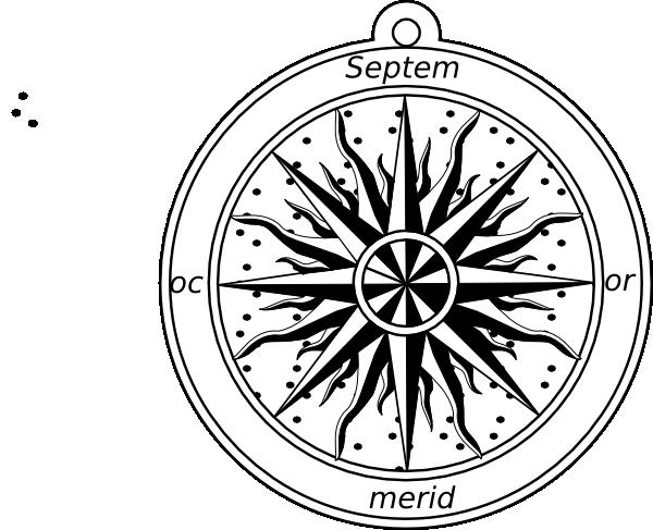 600x487 Compass Rose Clip Art