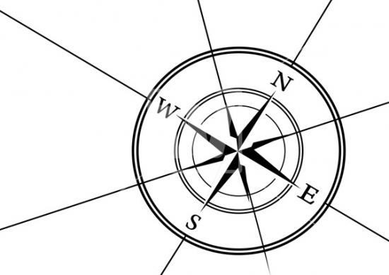 550x389 Compass Rose Vector