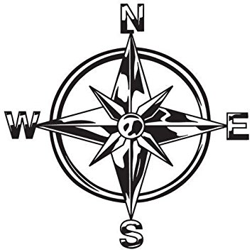 355x355 Indiashopers Tribal Compass Rose Nautical Star Windows, Sides