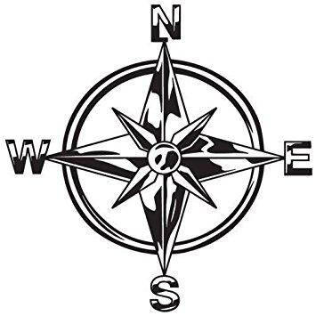 355x355 Indiashopers Tribal Compass Rose Nautical Star Windows, Sides