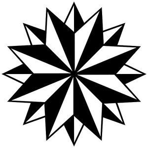 300x300 Tribal Compass Rose Nautical Star Car Boat Bike Window Vinyl Decal