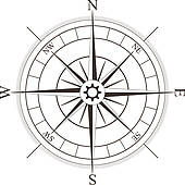 170x170 Clipart Of Compass Rose K6721834