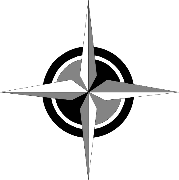 588x594 Compass Rose Clip Art Free Vector 4vector