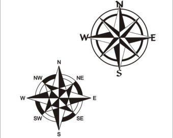340x270 Compass Rose Svg Etsy