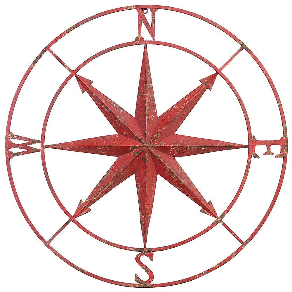 1000x1000 3r Studios 41 In. Dia. Compass Rose Metal Wall Plaque De6069