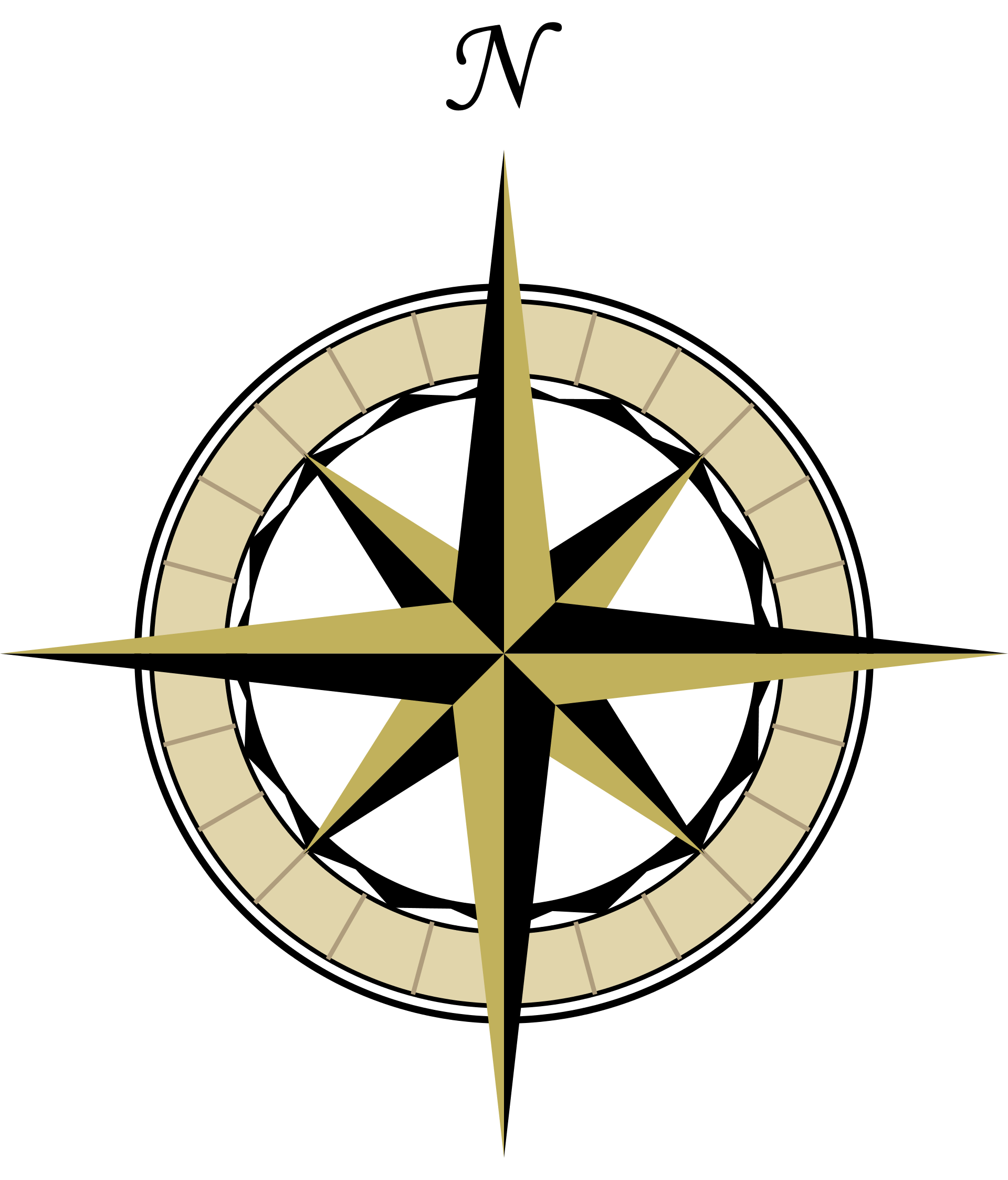 1920x2247 Simple Compass Rose
