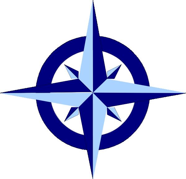 600x577 Blue Compass Rose Clip Art