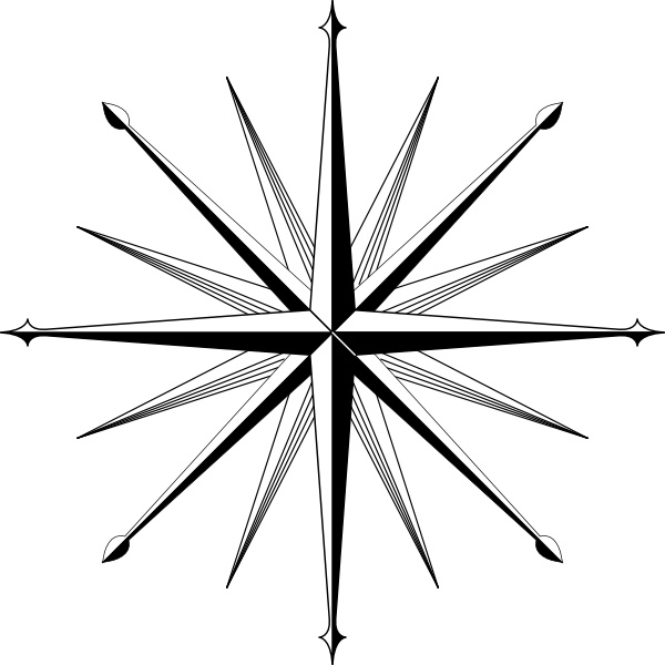 600x600 Wind Rose Compass Rose Clip Art Free Vector In Open Office Drawing