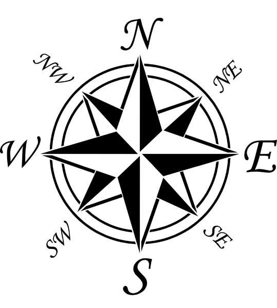 539x600 Compass Rose