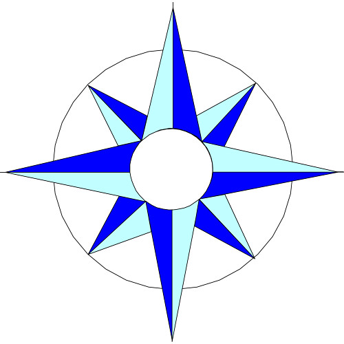 500x500 Compass Rose Clipart Many Interesting Cliparts