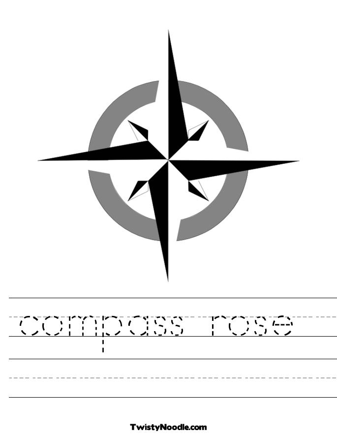 685x886 Blank Compass Rose Worksheet