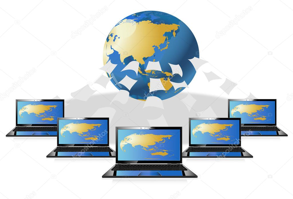 1023x694 Computer world data center — Stock Vector © mapichai